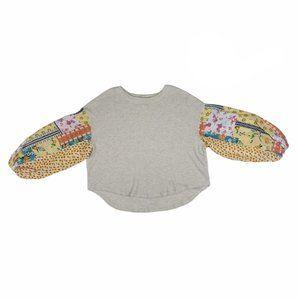Blu Pepper Boho Bubble Sleeve Oversized Pullover